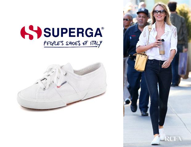 Candice-Swanepoels-Superga-Cotu-Classic-Sneakers